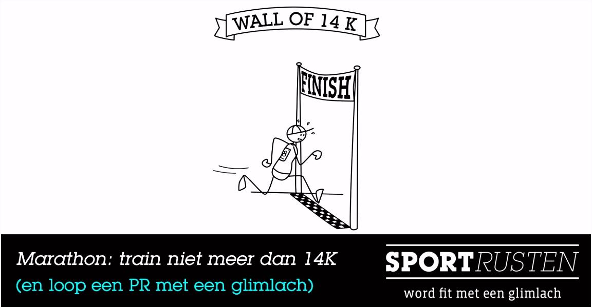 Hoe loop je een marathon terwijl je maar 14 km traint