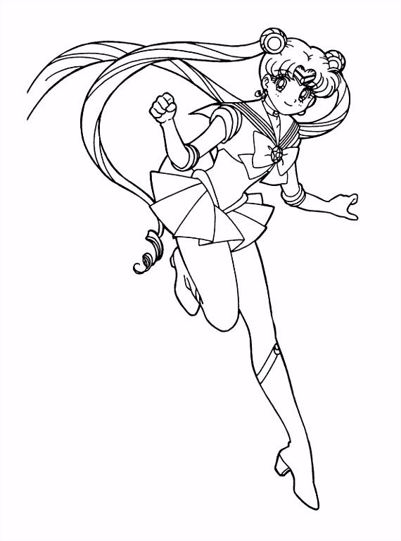 kleurplaten en zo Kleurplaat van Sailor Moon