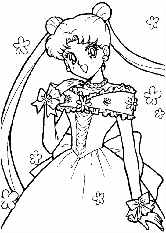 Sailor Moon Kleurplaten voor kinderen Kleurplaat en afdrukken