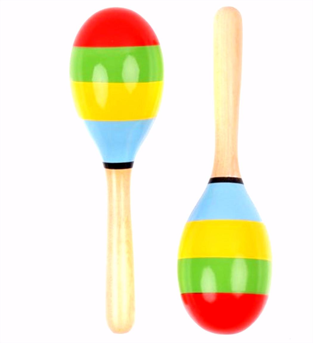 bol Handgemaakte houten sambaballen maracas Vilac