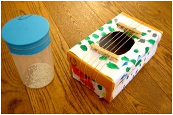 Geloven thuis Zelf muziekinstrumentjes maken