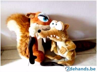 Hele grote Ice age eekhoorn Scrat en Scratte knuffel Te koop