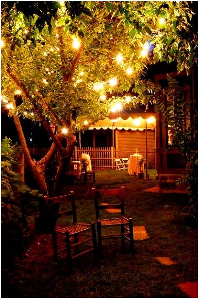 Sfeervol met lichtjes Leuk voor een tuinfeest