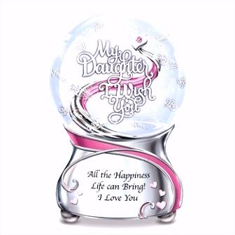 Muzikale Glitter Sneeuwbol Met Hartvorm sneeuwbol Met Maan En Hart
