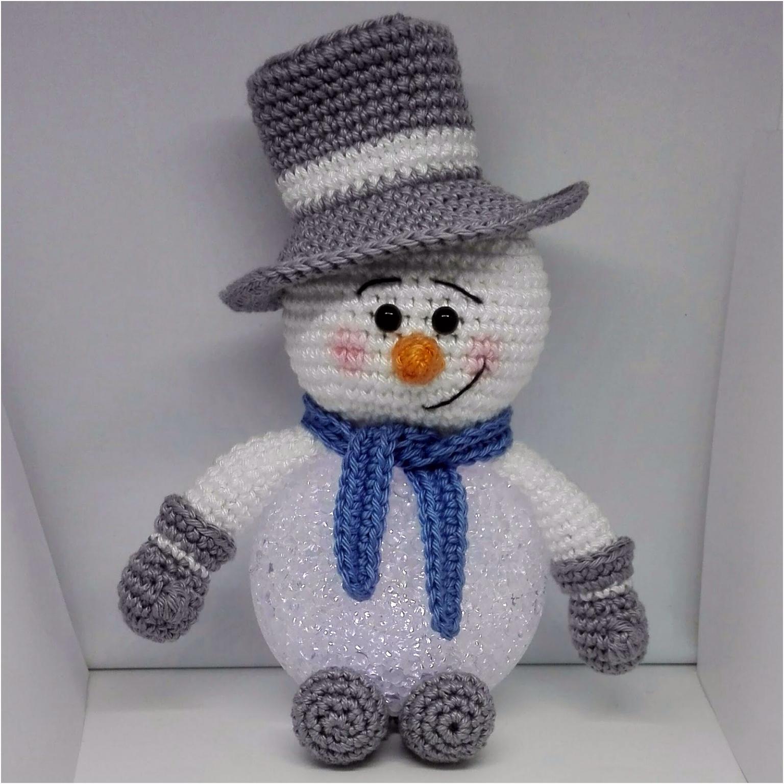 Sil s Corner Patroon sneeuwpop met led bal