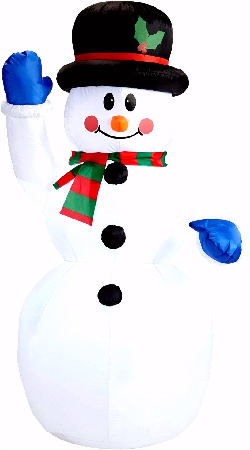 Sneeuwpop decoratie opblaasbaar Carnavalskleding