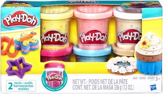 Play Doh Confetti 6 potjes Speelklei