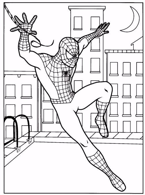 Spiderman Kleurplaat Superhelden Kleurplaat Animaatjes