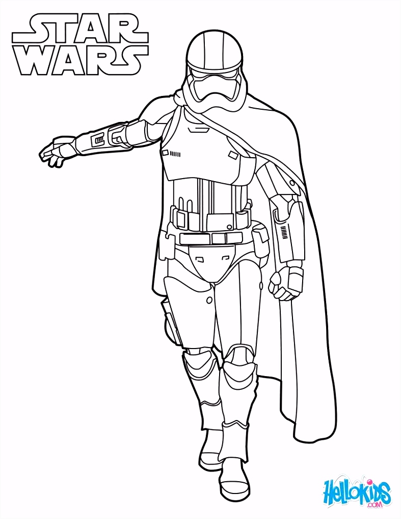Captain Phasma coloring sheet from the new Star Wars movie The Force