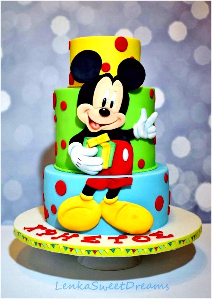 Mickey Birthday Cake Birthday Cakes Pinterest