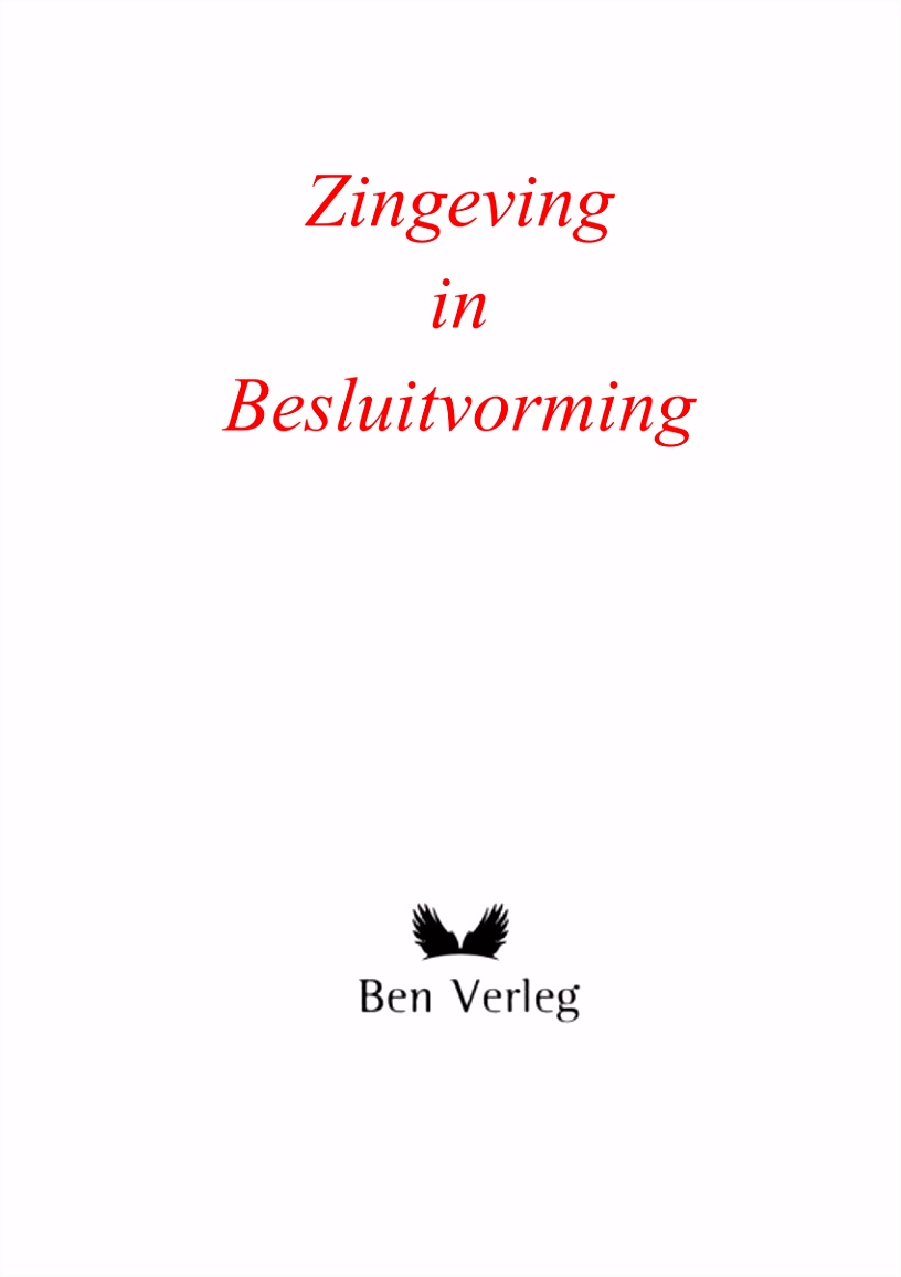 PDF Zingeving in Besluitvorming