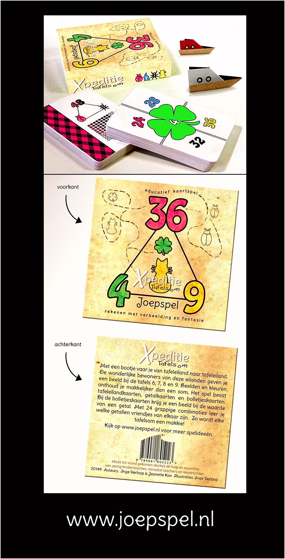 Xpeditie tafelsom is een kaartspel waarmee kinderen op een leuke