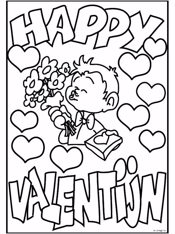 Kleurplaat Happy Valentijn Kleurplaten