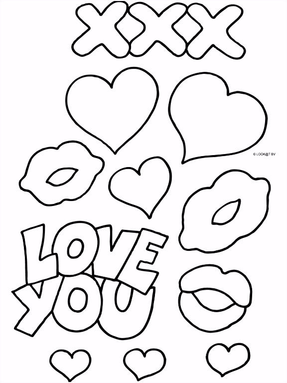 Kleurplaat Valentijnsdag 14 februari Kleurplaten