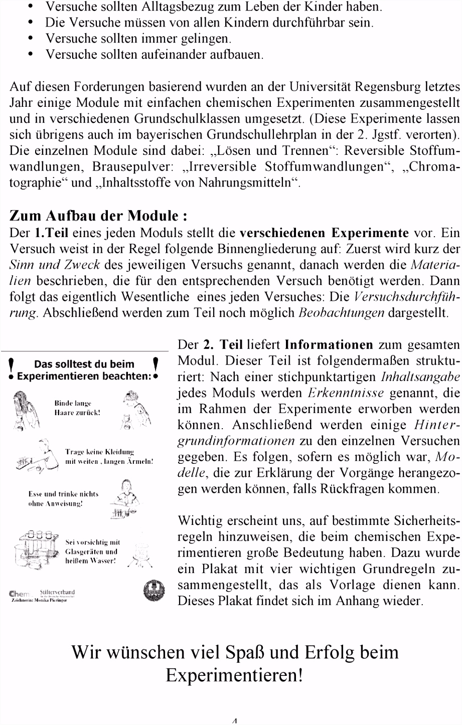 CHEMISCHE EXPERIMENTE IM KINDERGARTEN PDF