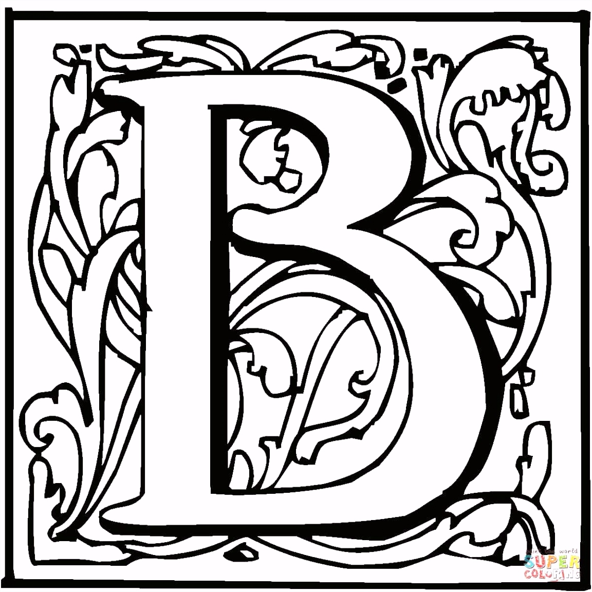 Verzoekje Kleurplaten Van Lillifee Letter B with ornament Coloring Page From English Alphabet with X4yz83vnr8 Duuw0sblgs