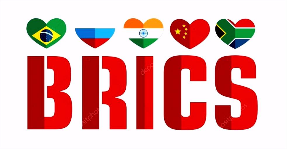 Vlag van de Brics landen kleur web pictogram — Stockvector © helen