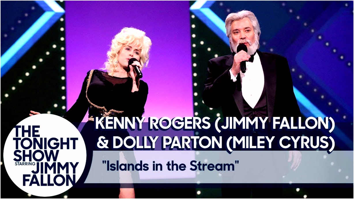 Jimmy Fallon and Miley Cyrus Recreate Kenny Rogers and Dolly