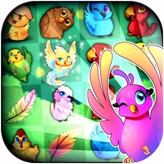 vogels 2 gratis match 3 party puzzelspel App voor iPhone iPad en