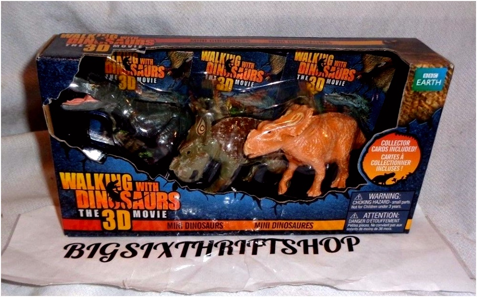 WALKING WITH DINOSAURS 3D MOVIE 3 PACK FIGURES w cards