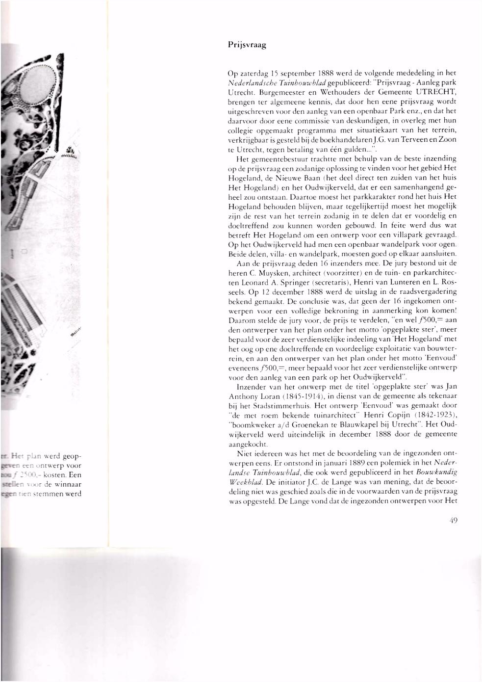 HISTORISCHE REEKS UTRECHT DEEL 11 PARKEN IN UTRECHT DE GESCHIEDENIS