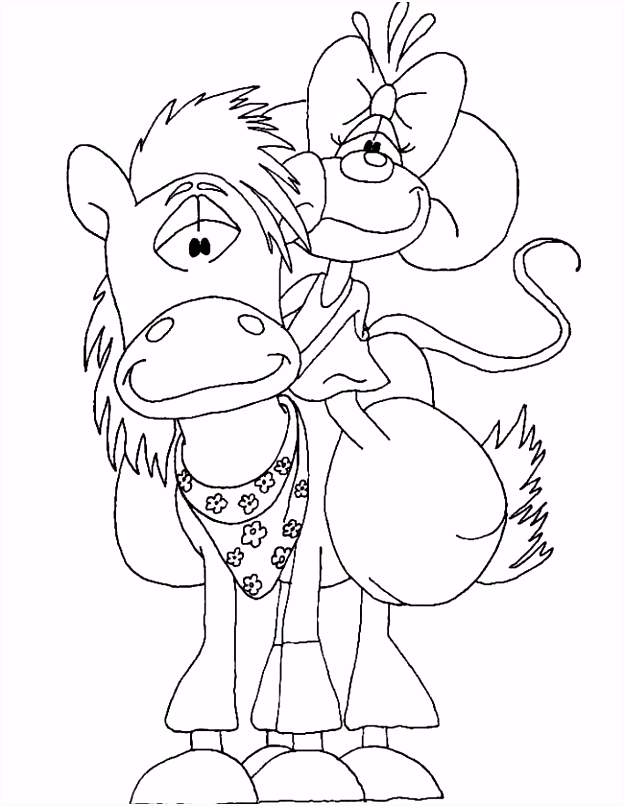 Kleuren Didlina paard kleurplaten