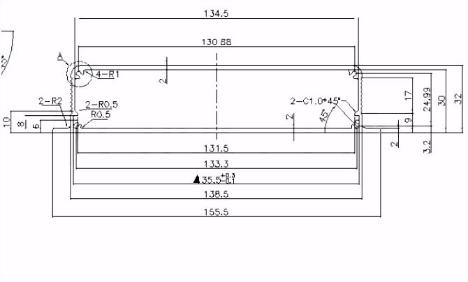 ᗛ1 stuk PCB Aluminium doos 155 32 150mm Controller behuizing