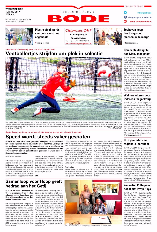 Bergen op Zoomse Bode 02 04 2017 by Uitgeverij de Bode issuu