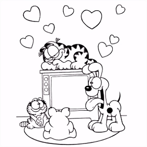 Garfield kleurplaten