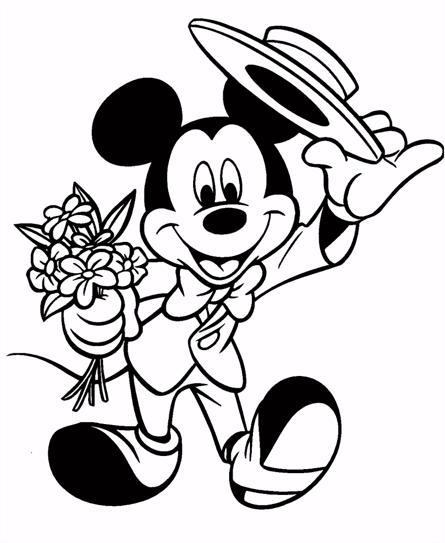 DISNEY COLORING PAGES DISNEY VALENTINE COLORNG PAGES WITH MICKEY