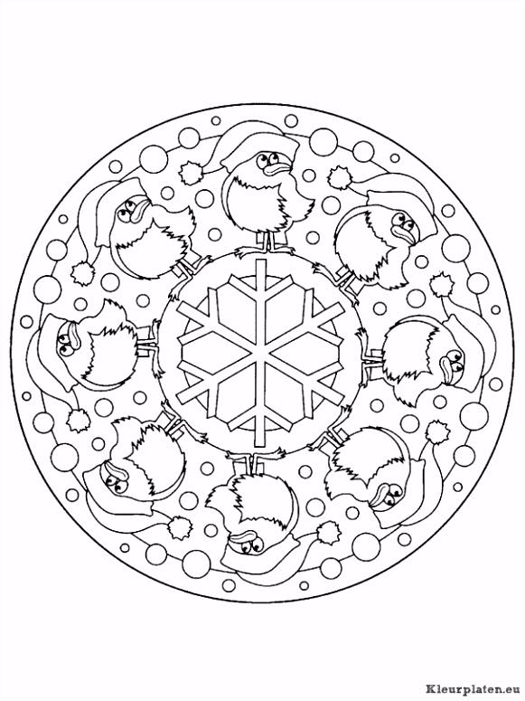 Mandala Kerstmis Kleurplaten