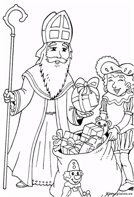 Sinterklaas En Zwarte Piet Kleurplaten