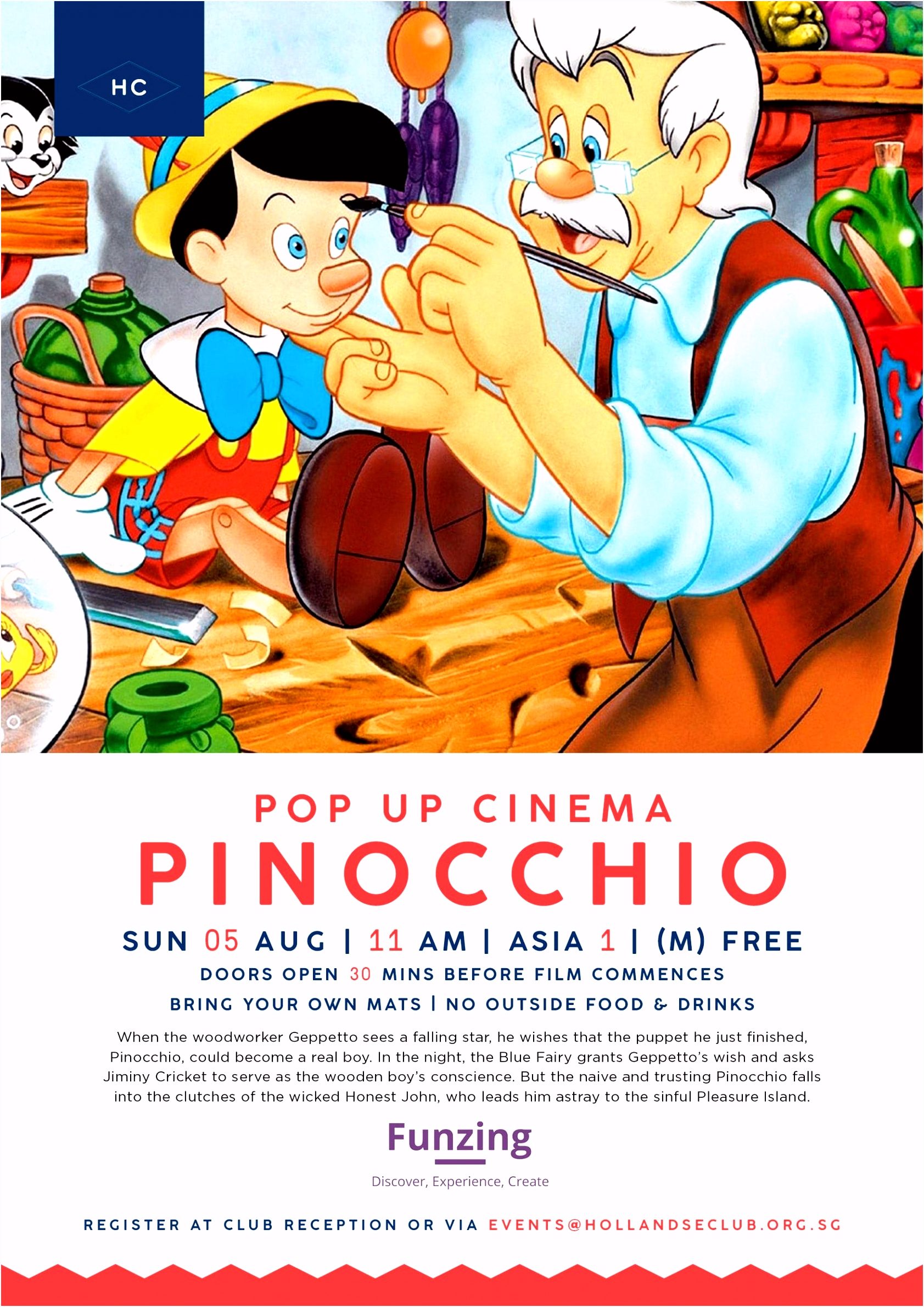 0818 Pop Up Cinema Pinocchio The Hollandse Club