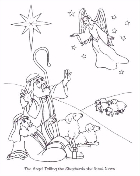 Engelen vertellen herders de goede nieuws vrede op aarde