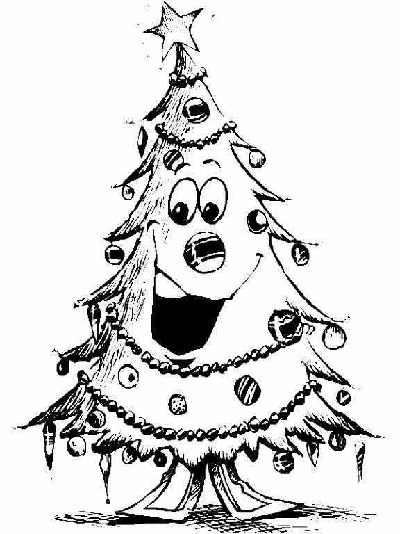 Kerst Kleurplaat Kerstboom