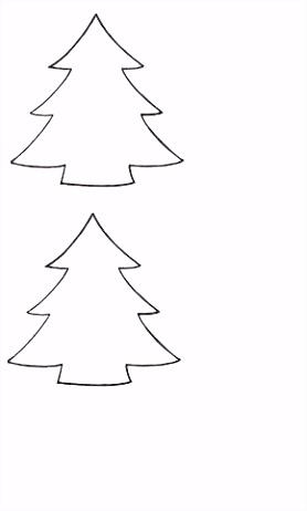 kerstboom sjabloon Basisschool opdrachten