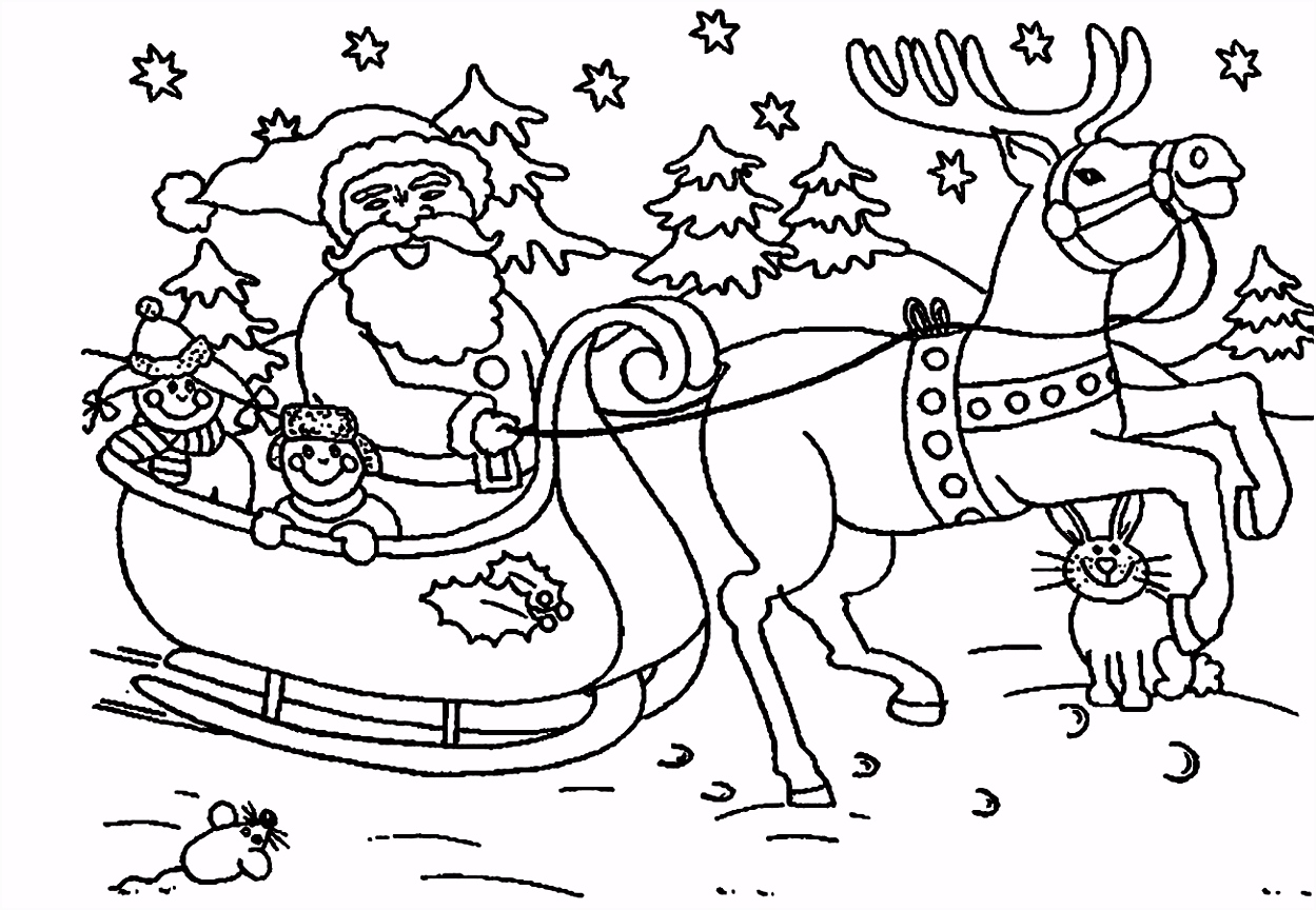 Father Christmas Coloring Pages