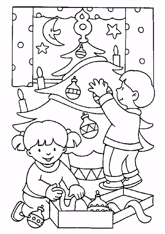 Kerst Kleurplaten En Kleurplaat Van Mannen Bomenkransen Caaus