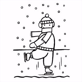Winter kleurplaten 2018 ⛄ → Leuk voor kids