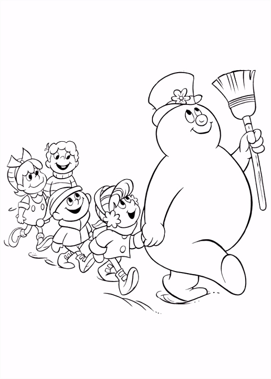 Frosty the Snowman Kleurplaten 14 Inkleur