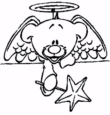 Kleurplaat Kerst Kleurplaat Kerst Engel Animaatjes