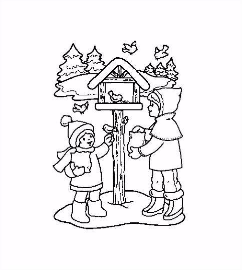 Kleurplaat Kerst Kleurplaat Kerst Winter Animaatjes