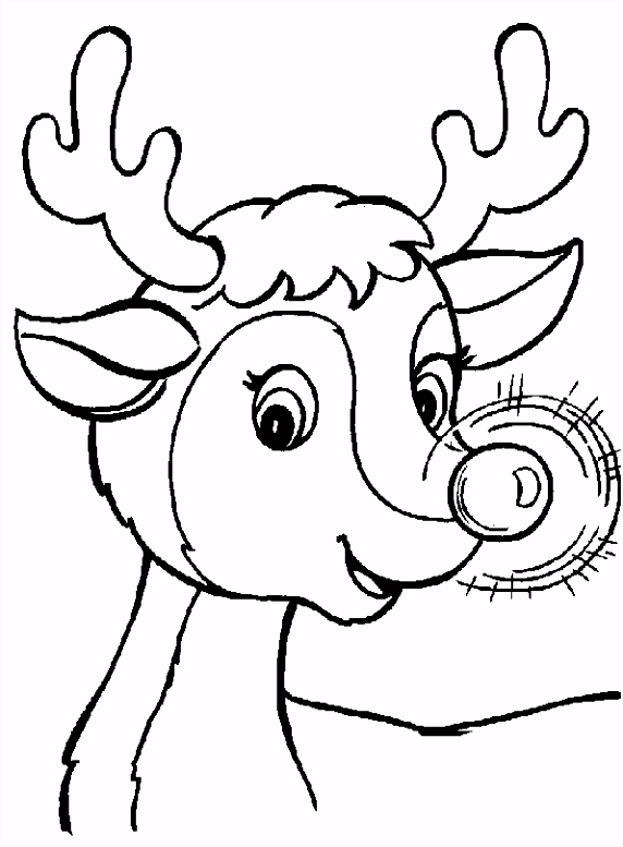 Kleurplaat Kerst Kleurplaat Kerst Ren r Animaatjes