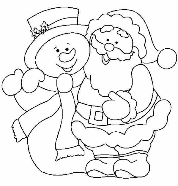 Kleurplaat Sneeuwpop ARCHIDEV