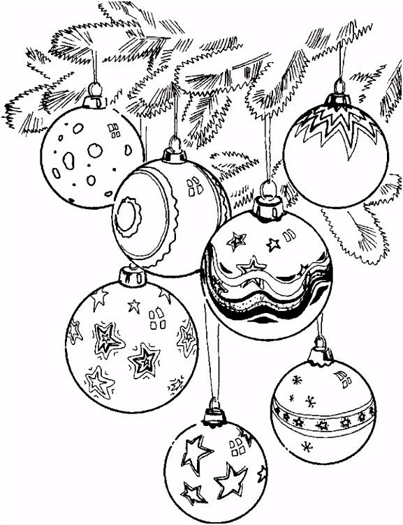 Kerst Kleurplaat Kerstballen