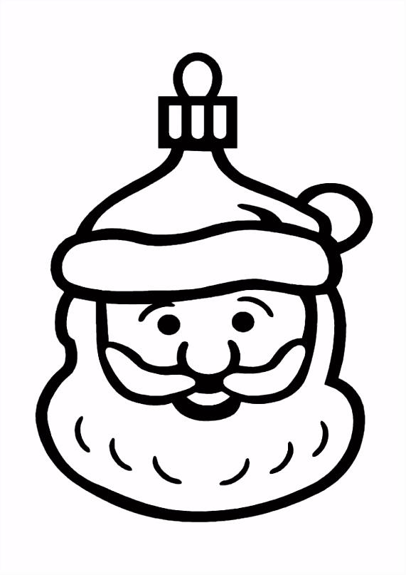 Kleurplaat Kerst kleurplaten kerstbal in de vorm van een kerstman