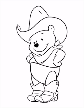 Winnie The Poo Coloring Page