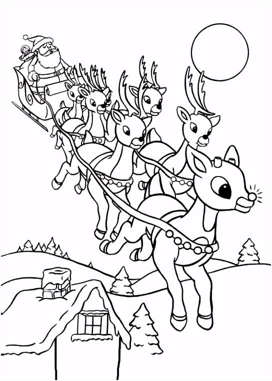 Rudolf Med Den R¸de Tud Tegninger til Farvel¦gning 11