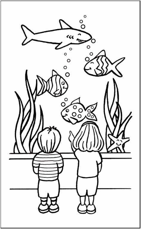 coloriage poisson aquarium Add colour Pinterest