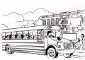 10 Kleurplaat Schoolbus